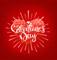 happy valentines day wishes greeting card vector image