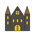 haunted house halloween related icon filled vector image vector image