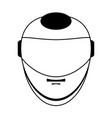 helmet silhouette vector image vector image