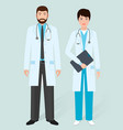 hospital staff concept male and female doctors in vector image vector image