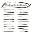 ink brushes set Grunge brush strokes vector image vector image