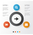 interface icons set collection of letter ahead vector image vector image