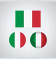 italian trio flags vector image