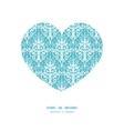 light blue swirls damask heart silhouette vector image vector image