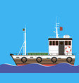 marine towing ship vector image