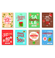 merry christmas holly jolly cookies and presents vector image vector image