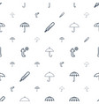meteorology icons pattern seamless white vector image vector image