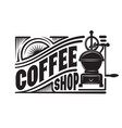 monochrome template in retro style with a coffee vector image vector image