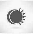 moon icon vector image vector image
