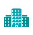 multi-storey building glyph color icon vector image