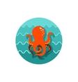 Octopus icon Summer Vacation vector image