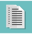 paper document file isolated icon vector image vector image