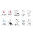 pets animals cute logo collection vector image