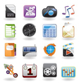 phone performance and office icon vector image vector image