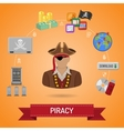 Piracy Concept with Pirate vector image vector image