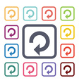 reload flat icons set vector image vector image