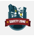 safety zone vector image