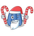 santa with candy jelly character cartoon style vector image vector image