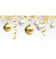 seamless pattern christmas decor for site vector image vector image