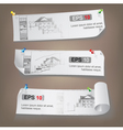 Set of Architectural Web Banners vector image vector image