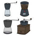 set of coffee grinder vector image
