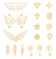 set outline emblems and badges vector image vector image