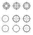 set targets vector image