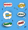 set with comic speech bubbles with sound effects vector image vector image