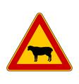 Sheep warning sign vector image vector image