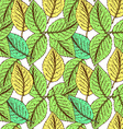 Sketch leaves in vintage style vector image