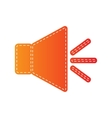 Sound sign with mute mark Orange vector image vector image