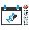 Sperm DNA Replication Calendar Day Icon vector image vector image