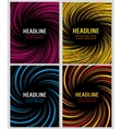 Spiral color speed lines set layout for vector image vector image