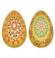 strawberry ornaments on easter eggs vector image vector image