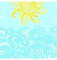Summer background sun and waves vector image vector image