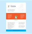 template layout for internet error comany profile vector image vector image
