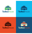 toolbox house logo and icon vector image vector image