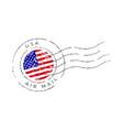 usa postage mark national flag postage stamp vector image