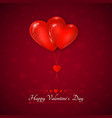 valentines day greeting card couple air balloons vector image