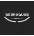 Vintage beer emblem vector image