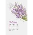 Vintage floral calendar 2017 vector image vector image