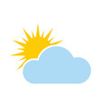 weather forecast icon - seasons clouds vector image