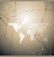 world map with shadow abstract global network vector image vector image