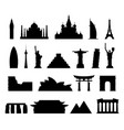 world monuments icons vector image vector image