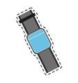 blue smart watch wearable technology line vector image
