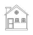 cottage wooden chimney exterior outline vector image