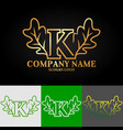02 oak letter k vector image vector image