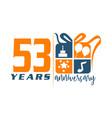 53 year gift box ribbon anniversa vector image vector image