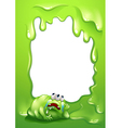 A border template with a monster salivating vector image vector image