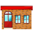 A building made of bricks vector image vector image